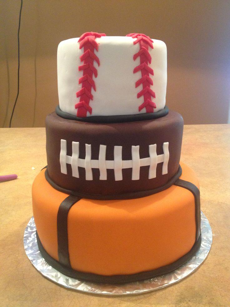 Amazing 9 Sports Cakes For A Party Photo Sports Birthday Cake Sports Birthday Cards Printable Benkemecafe Filternl
