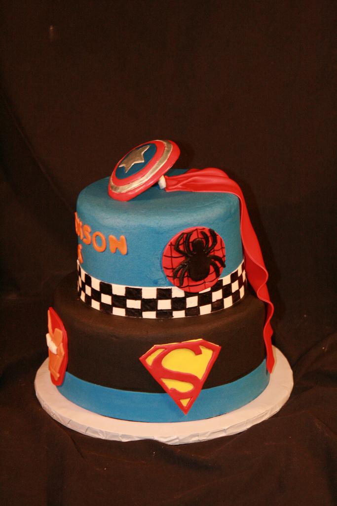 Magnificent 8 Target Super Hero Cakes Photo Superhero Birthday Cake Super Funny Birthday Cards Online Alyptdamsfinfo