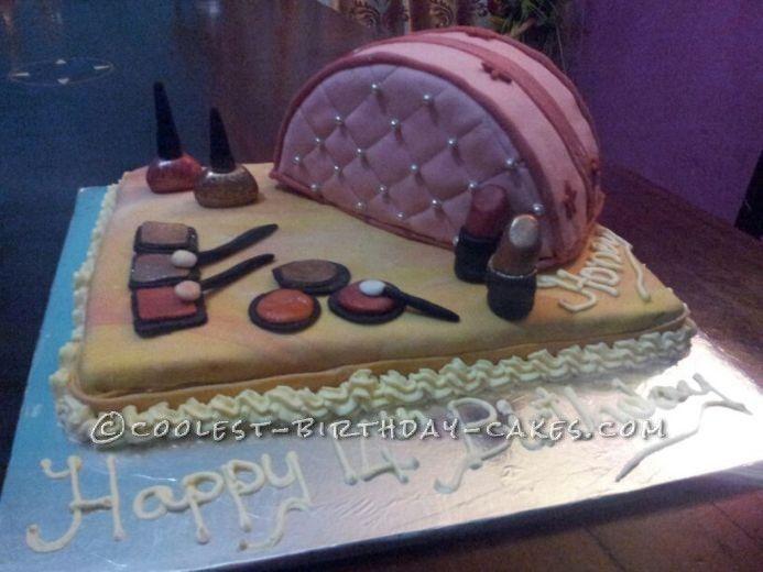 6 Girl S Makeup Birthday Cakes Photo Make Up Cake Birthday Cakes
