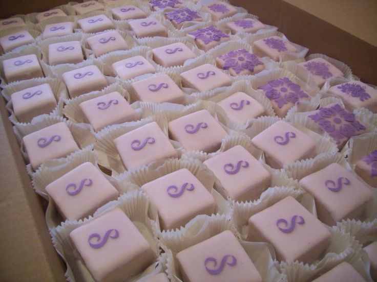 wedding shower petit fours