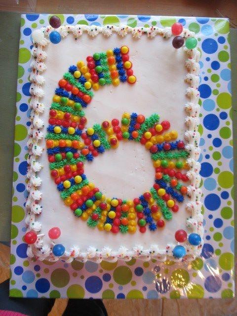 6 Year Old Birthday Cake Idea