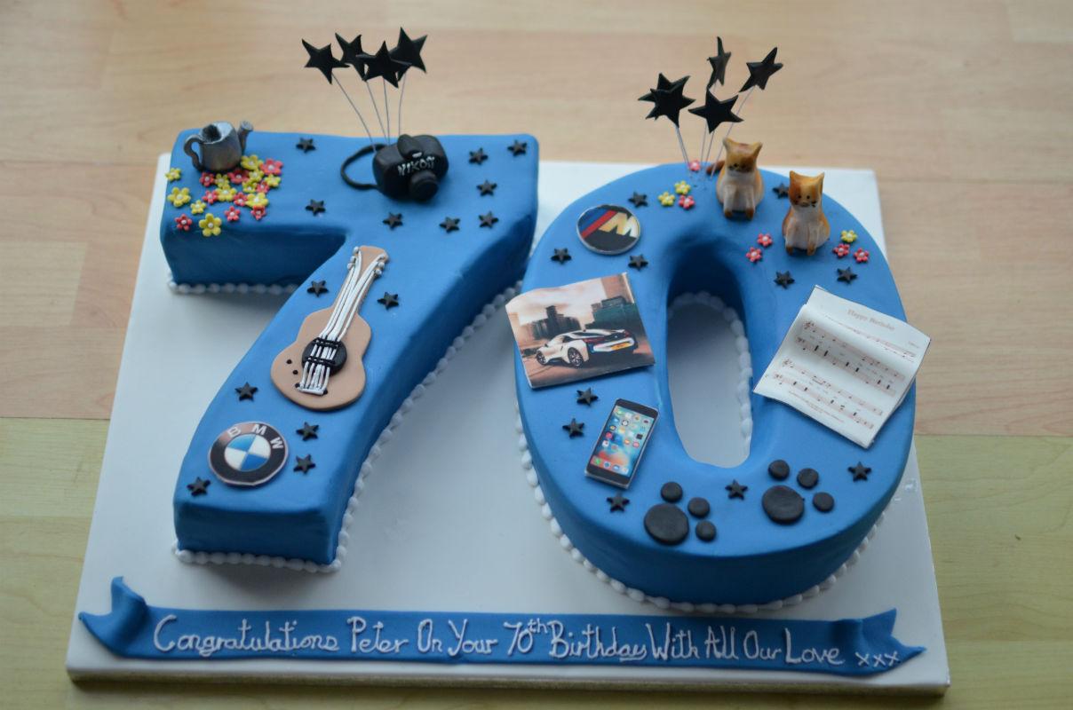 10 70th Birthday Cakes For Him Photo 70th Birthday Cake Ideas