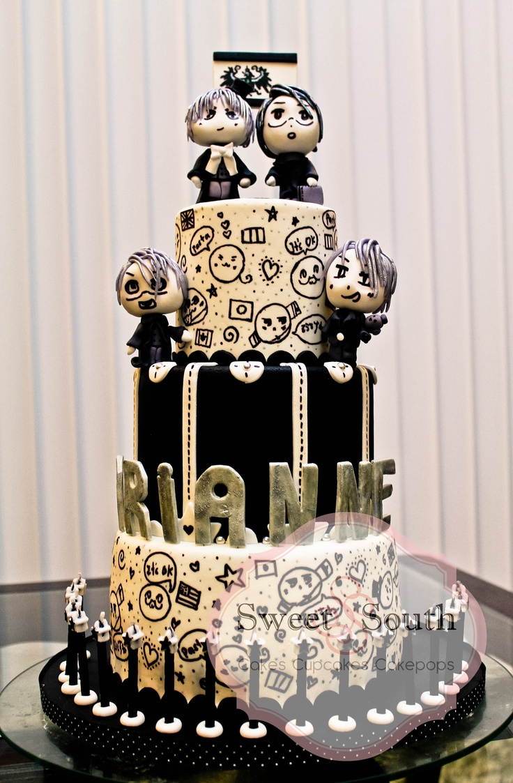 9 Anime Cupcake Wedding Cakes Photo Fairy Tail Anime Birthday Cake