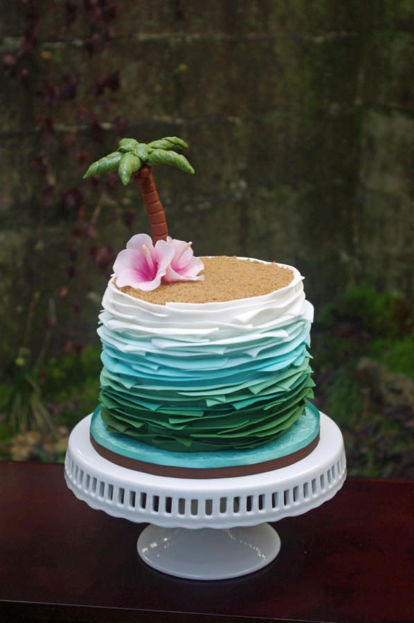 8 Tropical Summer Cakes Photo Beach Birthday Cake Ideas Tropical