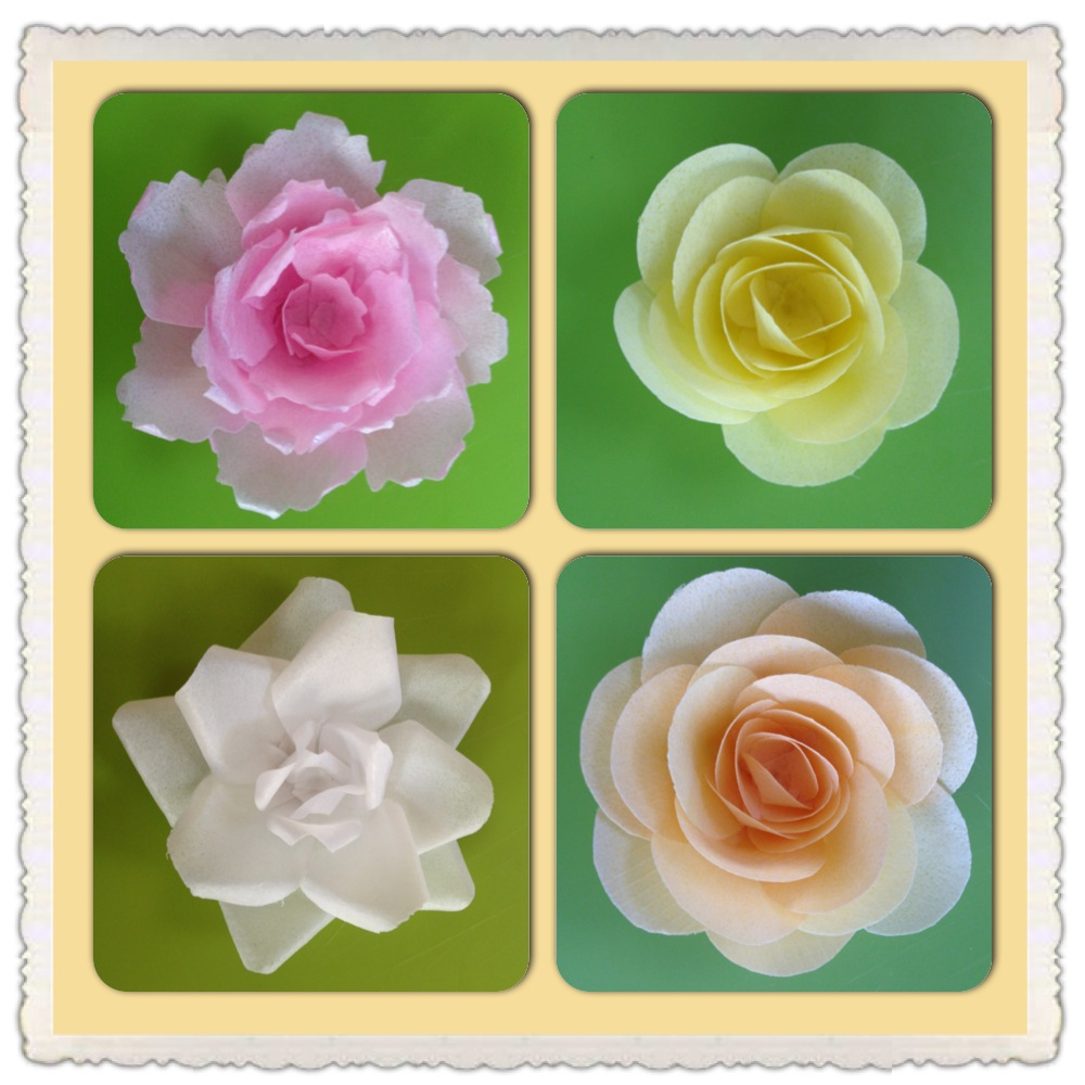 8 rice cakes decorated with paper photo decorating cake with wafer decorating cake with wafer paper flowers mightylinksfo