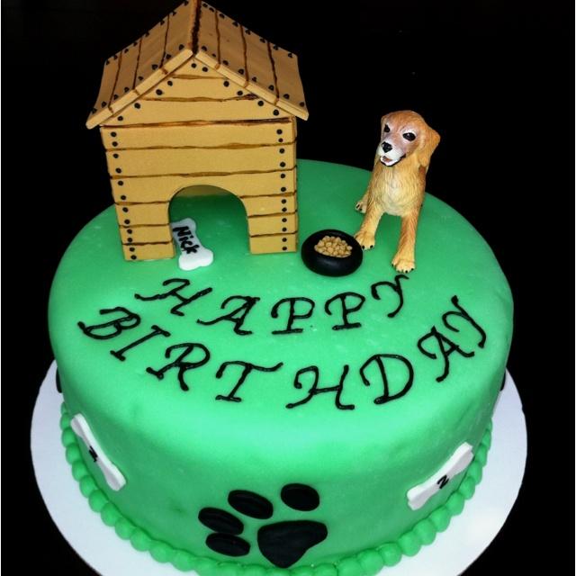 Dog Themed Birthday Cake