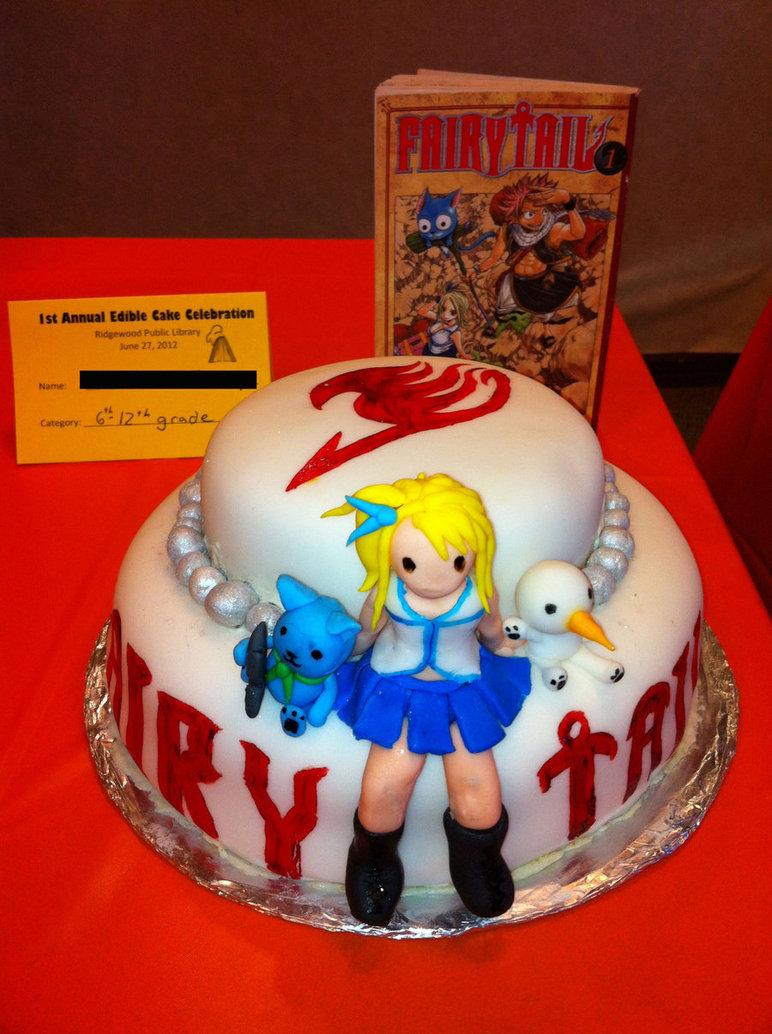 9 Anime Cupcake Wedding Cakes Photo Fairy Tail Anime Birthday Cake