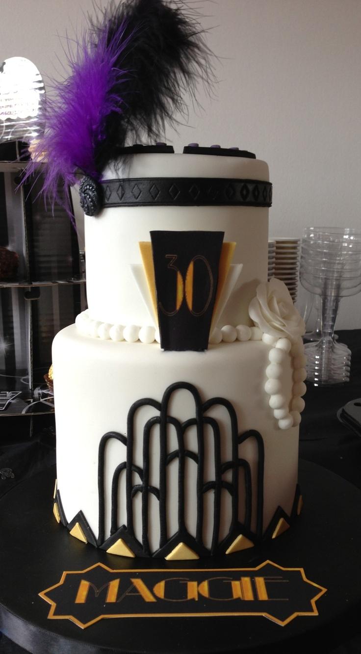 13 Gatsby Style Cakes Photo Great Gatsby Birthday Cake Ideas