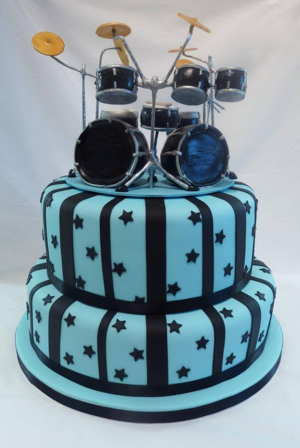 Excellent 13 Halloween Birthday Cakes Drum Set Photo Happy Birthday Drum Personalised Birthday Cards Paralily Jamesorg