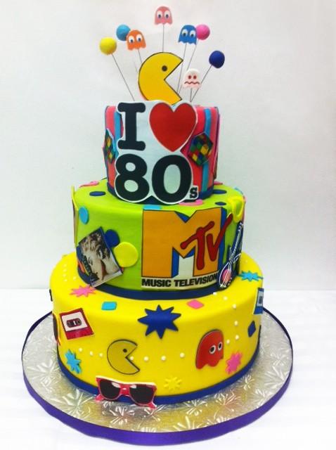I Love 80s Birthday Cake