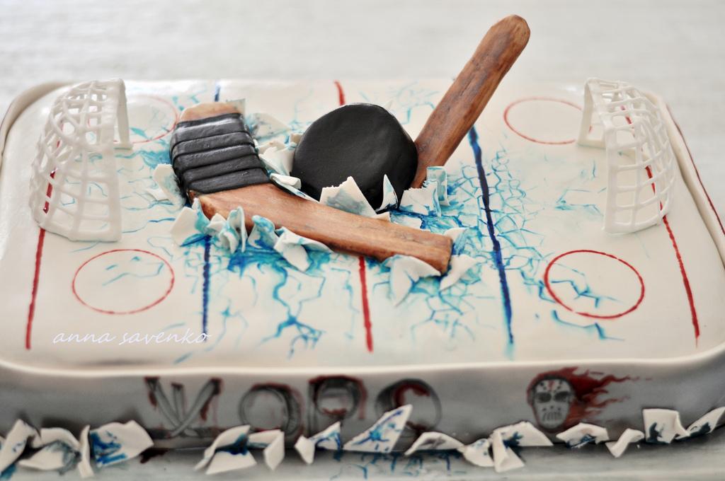 Incredible 12 Hockey Birthday Cakes Pretty Photo Hockey Birthday Party Cake Personalised Birthday Cards Cominlily Jamesorg