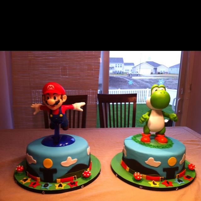 Prime 9 Mario Luigi And Yoshi Cakes Photo Mario Luigi And Yoshi Cake Funny Birthday Cards Online Necthendildamsfinfo