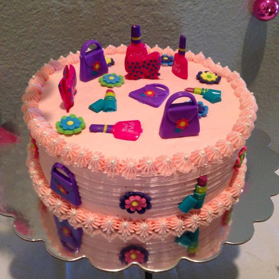 Nail Polish Themed Birthday Cake