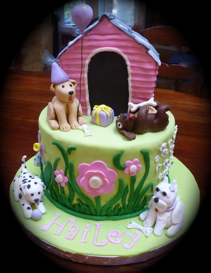 Puppy Dog Theme Birthday Cakes