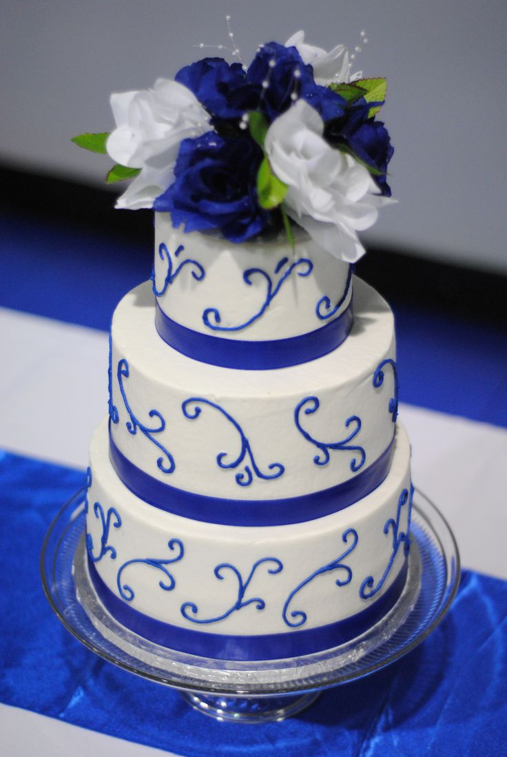 10 Amazing Wedding Cakes Royal Blue Photo Royal Blue And Purple
