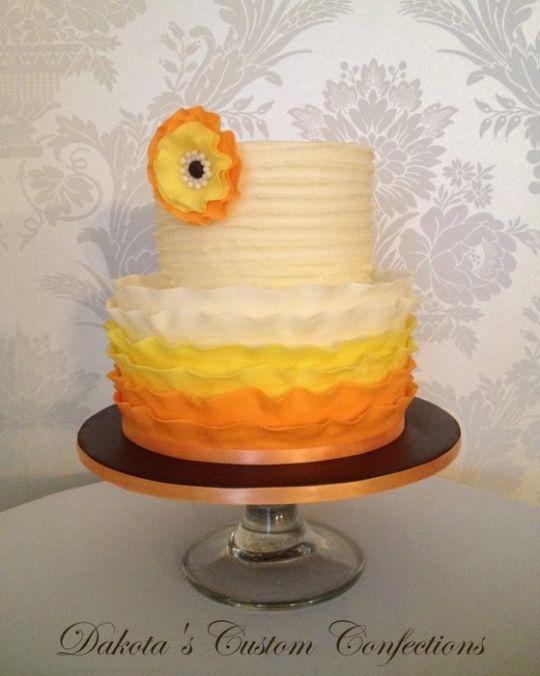 Simple Thanksgiving Cake