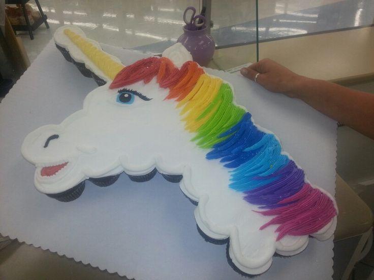 5 Unicorn Pull Apart Cupcakes Photo