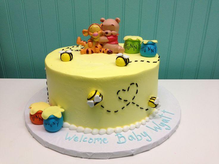 12 Winnie The Pooh Baby Shower Block Cakes Photo Baby Cake Shower