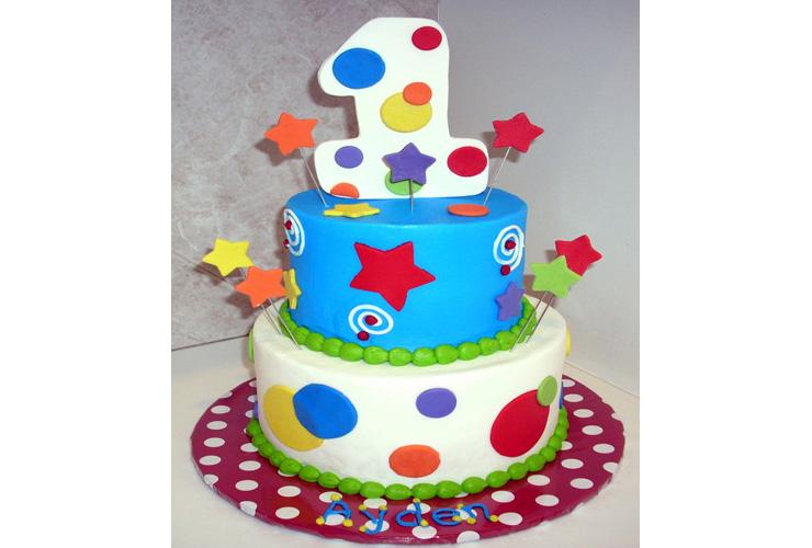 Birthday Cake Designs For One Year Old Satu Sticker