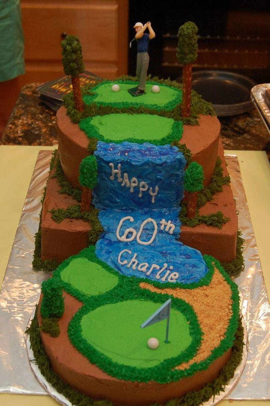 11 60 Birthday Cakes Golf Photo Happy 60th Birthday Golf Cake 60