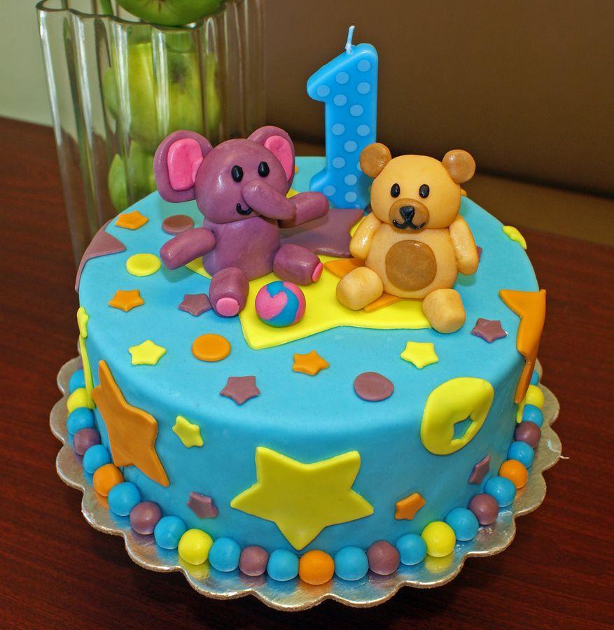 10 Baby Boy Birthday Cakes 2017 Photo Baby Boy Birthday Cake 1