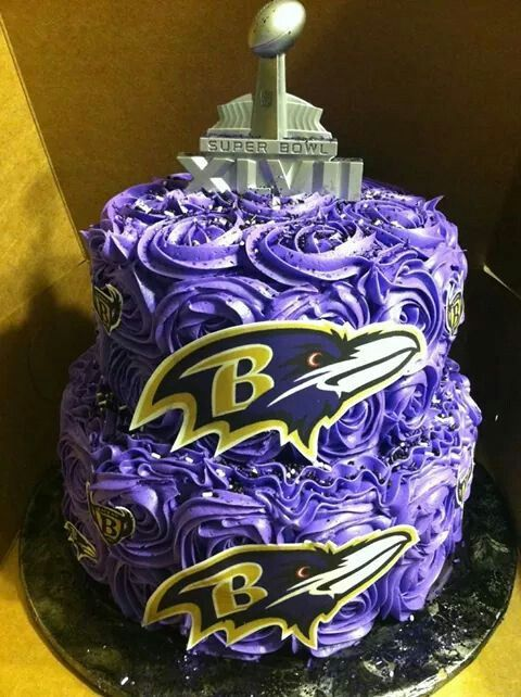 Brilliant 11 Ravens Super Bowl Cakes Photo Baltimore Ravens Super Bowl Birthday Cards Printable Opercafe Filternl