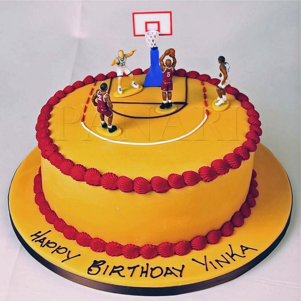 11 Team Basketball Themed Cakes Photo Basketball Birthday Cake