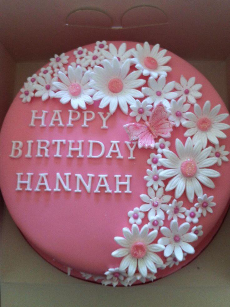 Superb 9 Flower Birthday Cakes For Ninette Photo Birthday Cake With Birthday Cards Printable Trancafe Filternl