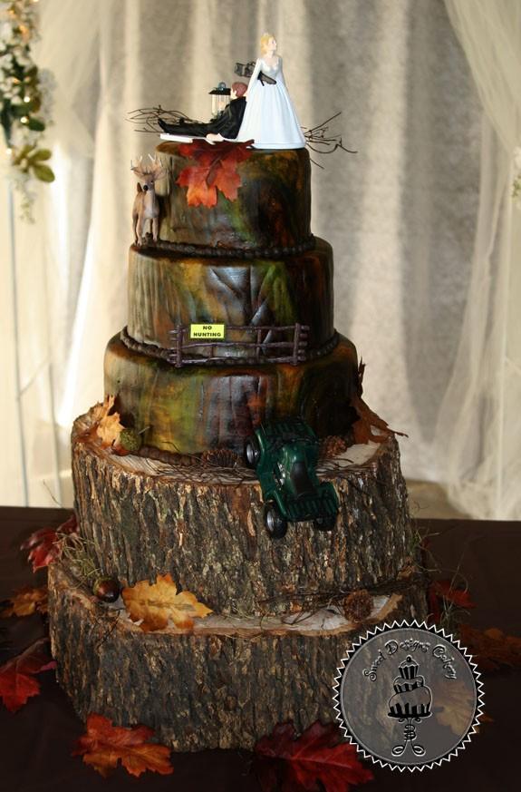 13 Square Wedding Cakes Camo Wedding Photo - Pink Camo Wedding Cake ...