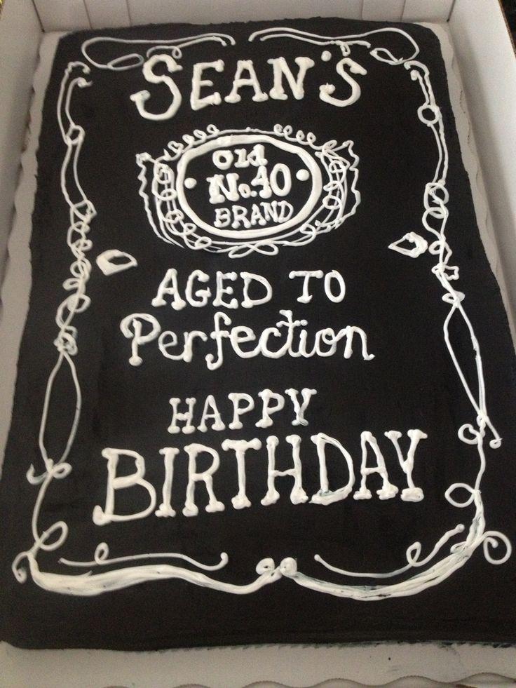 12 Jack Daniel S 40th Birthday Cakes Photo 40th Birthday Cake