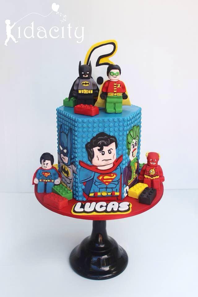12 Lego Superhero Cake And Cupcakes Photo Marvel Cupcakes