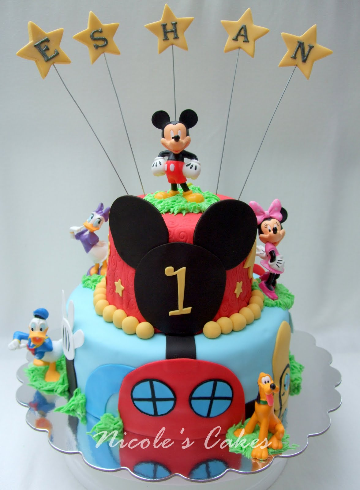 10 Mickey Mouse Clubhouse Cakes For A Boy Photo Mickey Mouse