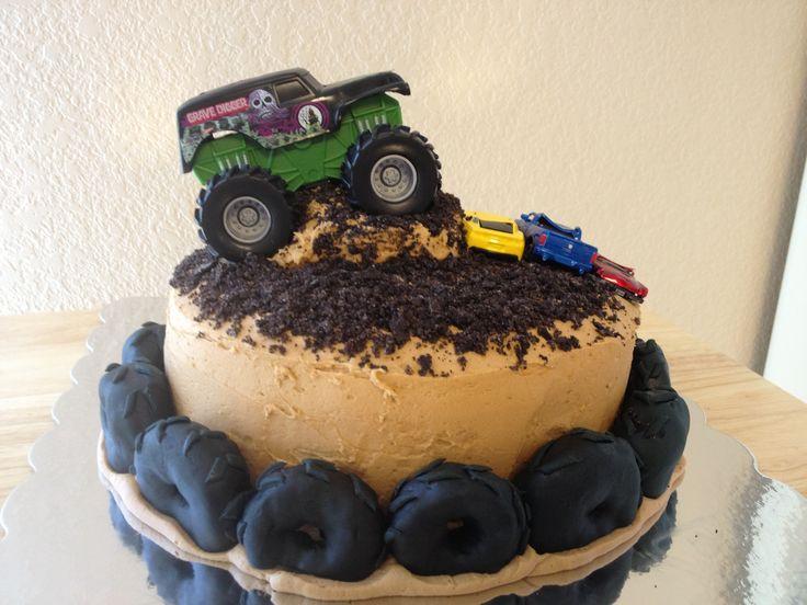 Miraculous 10 Round Monster Truck Cakes Photo Monster Truck Birthday Cake Personalised Birthday Cards Veneteletsinfo