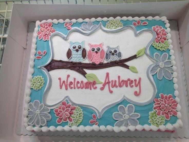 12 Navy Baby Shower Sheet Cakes Photo Owl Baby Shower Sheet Cakes