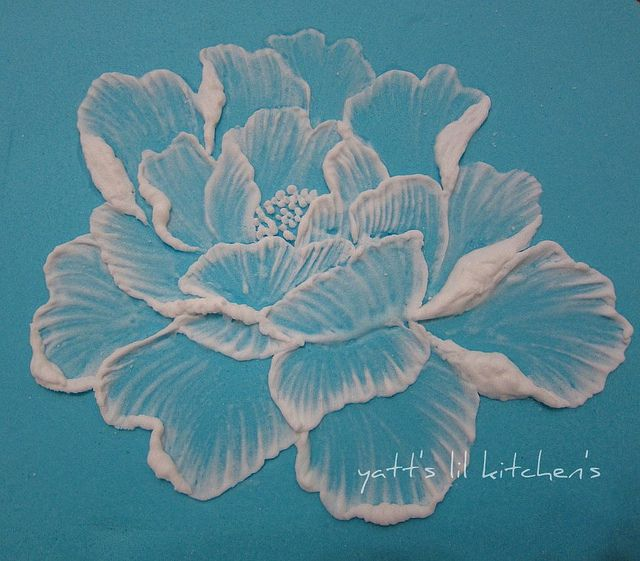 Royal Icing Brush Embroidery Flower