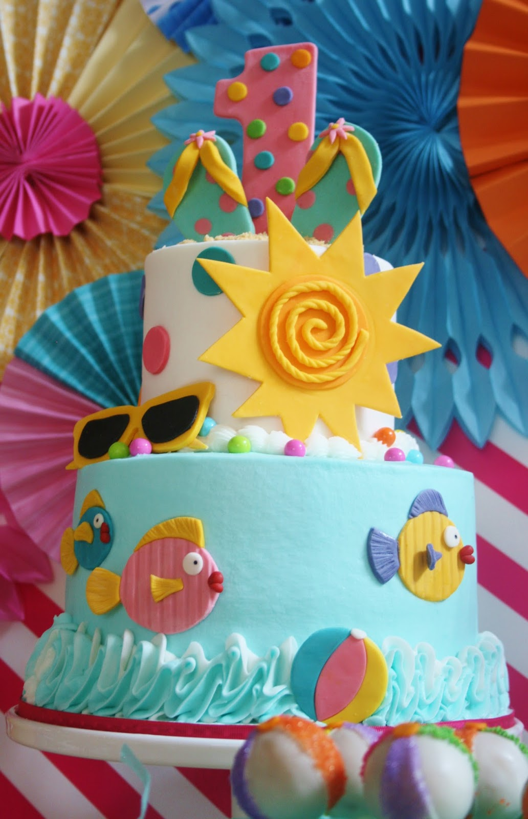 OceanThemed Birthday Party Theme Pool My Nephews 1st