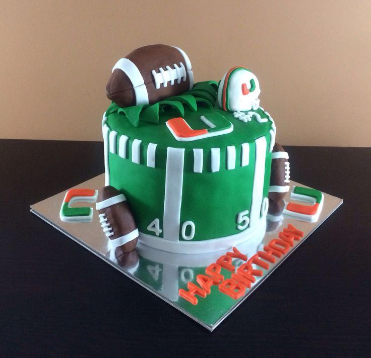 Terrific 11 University Of Miami Hurricanes Cakes Photo Miami University Funny Birthday Cards Online Elaedamsfinfo