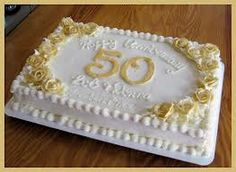 Remarkable 11 Sheet Cakes Decorated In Gold Photo 50Th Birthday Sheet Cake Funny Birthday Cards Online Alyptdamsfinfo