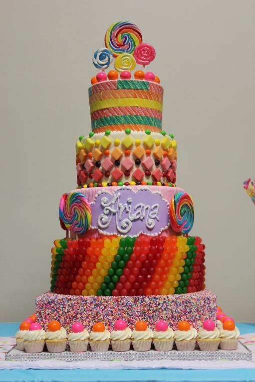 11 Cakes To Decorate Using Candy Photo Candy Birthday Cakes Cake