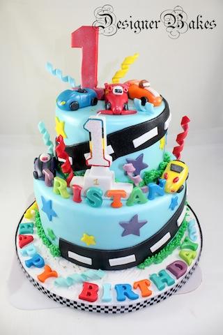 Strange 7 Birthday Cakes With Toy Cars Photo Hot Wheels Birthday Cake Personalised Birthday Cards Veneteletsinfo
