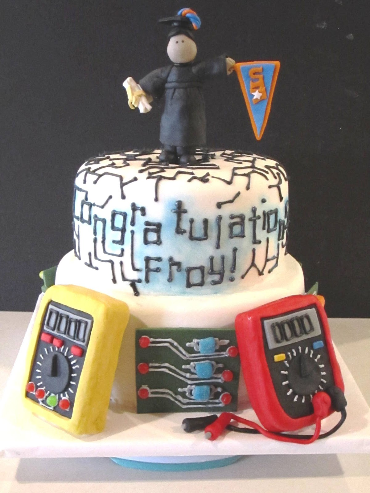 10 Electrician Graduation Cakes Photo Electrical Engineer