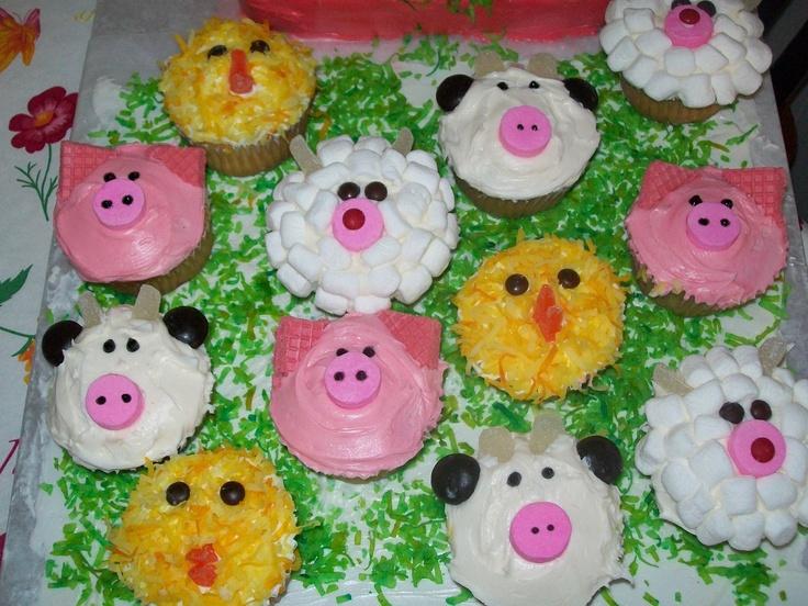 10 Easy Farm Animal Cakes Photo Farm Animal Cupcakes Birthday