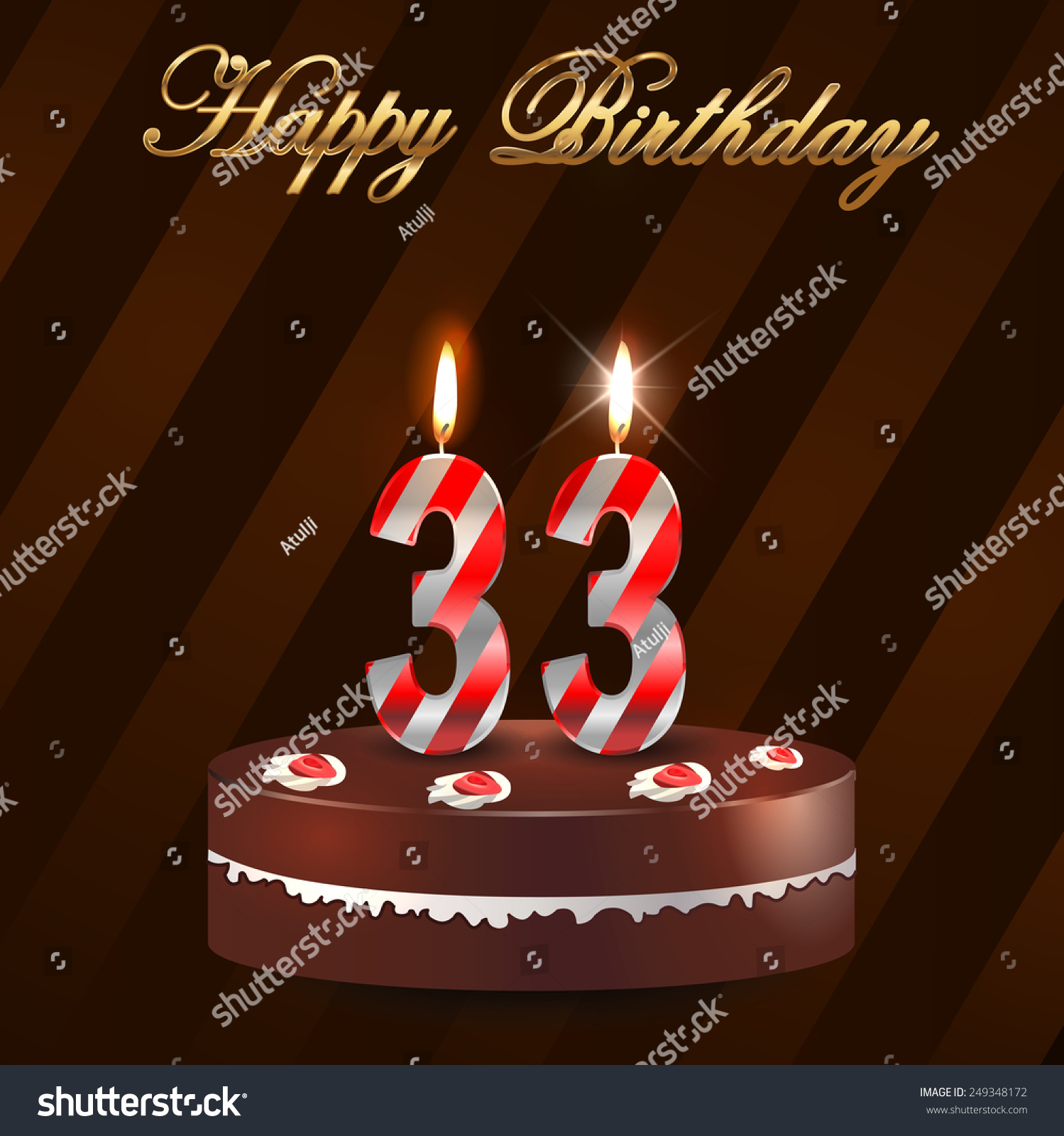 Happy 33rd Birthday Cake