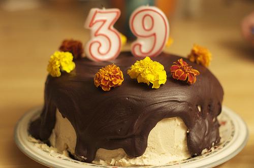 Happy 39th Birthday Cake