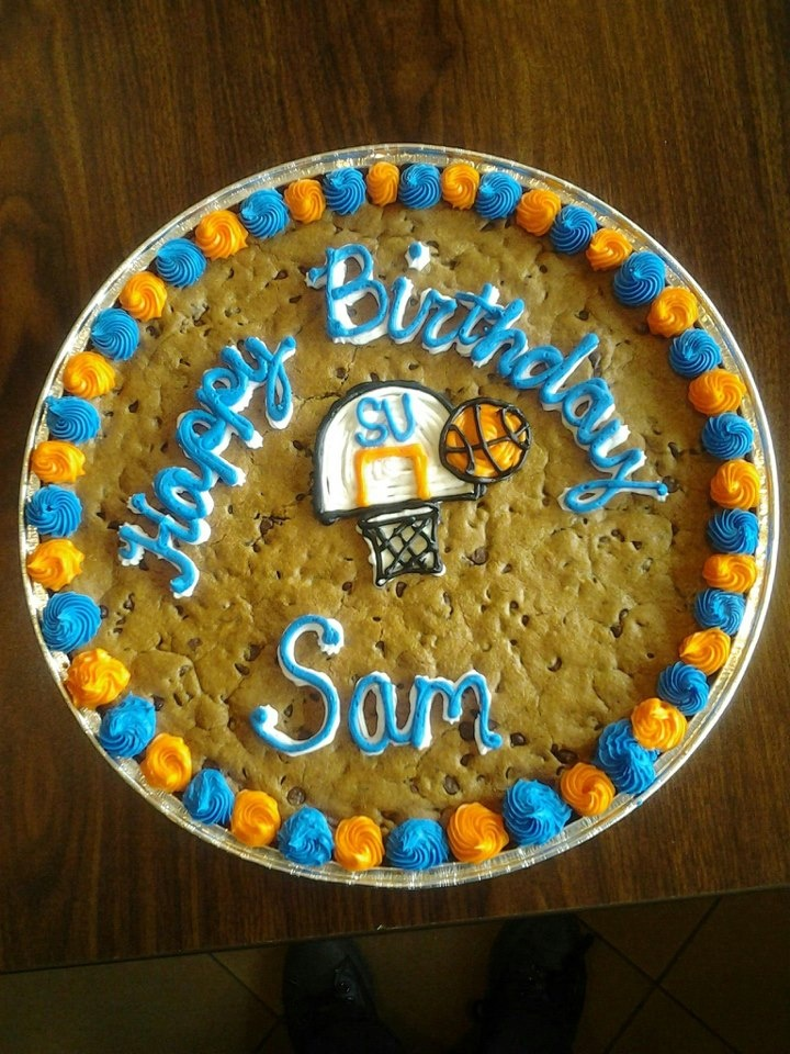 Tremendous 7 Cool Basketball Cookie Cakes Photo Happy Birthday Cookie Cake Funny Birthday Cards Online Sheoxdamsfinfo