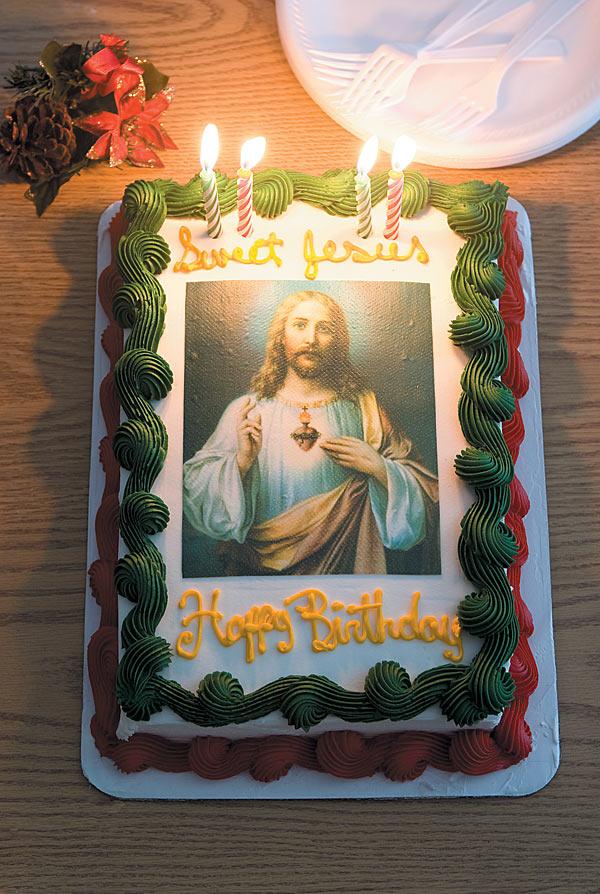 Cool 10 Jesus Christ Cakes Photo Jesus Birthday Cake Jesus Holding Birthday Cards Printable Benkemecafe Filternl