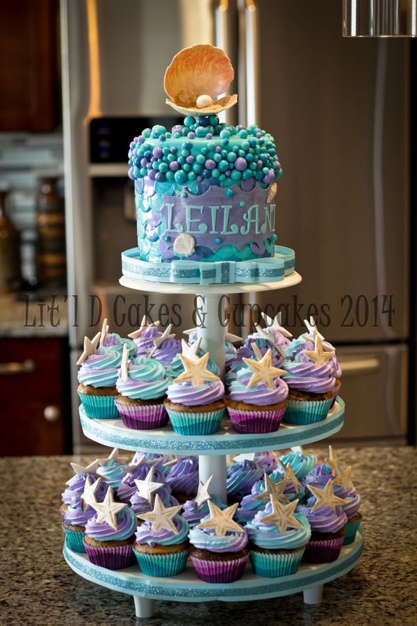 Mermaid Baby Shower Cakes And Cupcakes