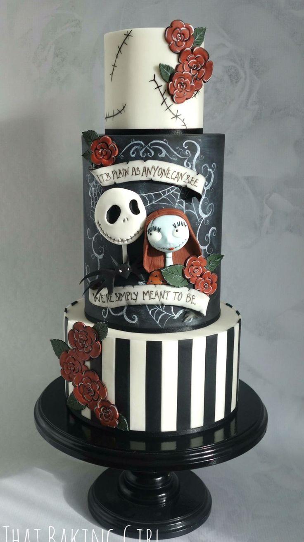 11 Jack Skellington 3 Tiered Cakes Photo - Halloween Nightmare ...