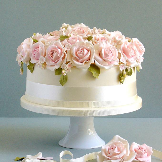9 Single Tiered Wedding Cakes Engagement Photo Single Tier Wedding