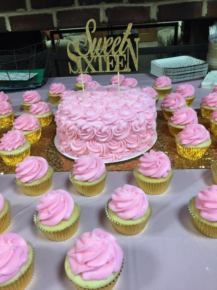 10 Sweet 16 Cupcakes Cute Easy Photo Pink Sweet 16 Cake And